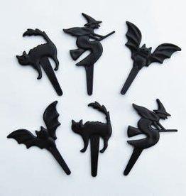 Deco Pack Bat, Witch, Cat Cupcake Picks