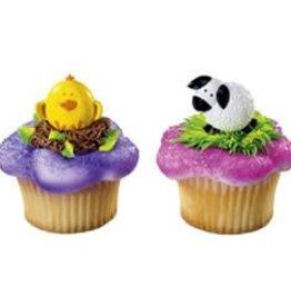 Deco Pack Chick and Lamb Cupcake Rings