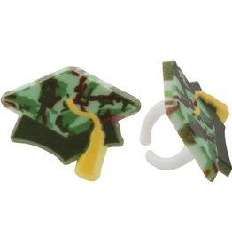 Decopac Camouflage Graduation Hat Rings (12/pkg)