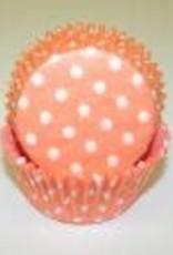 Viking Peach Polka Dot Baking Cups (30-35ct)