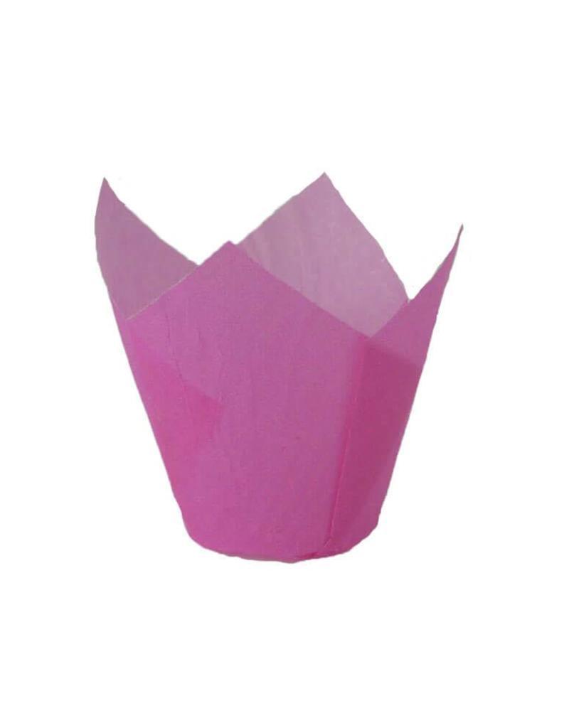 Novacart Tulip Baking Cups - Hot Pink (24ct)