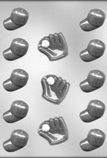 CK Products Baseball Caps/Gloves Chocolate Mold