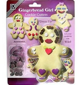 R and M Decorate Your Own Gingerbread Girl Cookie Cutter