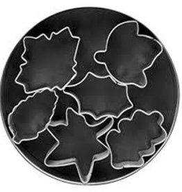 Fox Run Leaf Mini Cookie Cutter Set (6 piece)