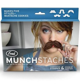 Fred & Friends MunchStache Cookie Cutter Set