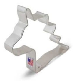 "R and M Unicorn Head Cookie Cutter (4.75"")"
