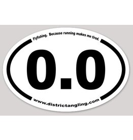 District Angling 0.0 Sticker