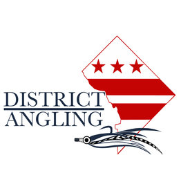 District Angling District Angling Logo Sticker