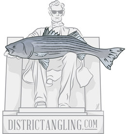 District Angling Honest Abe Sticker