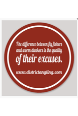 District Angling Excuses Sticker