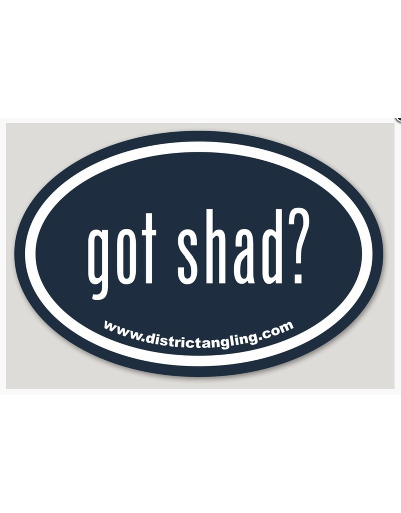 District Angling Got Shad Sticker