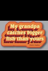District Angling Grandpa Sticker
