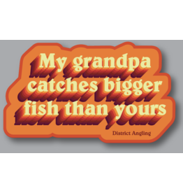 District Angling Grandpa Sticker