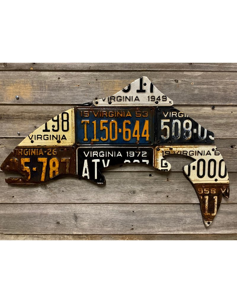 Cody's Fish Vintage License Plate Fish Art