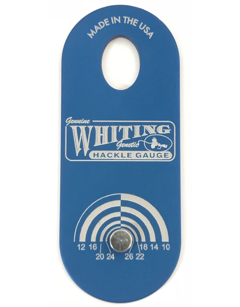 Whiting Hackle Farms Hackle Gauge