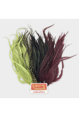 """Whiting Hackle Farms Whiting Schlappen Bundle 10-14"""""""