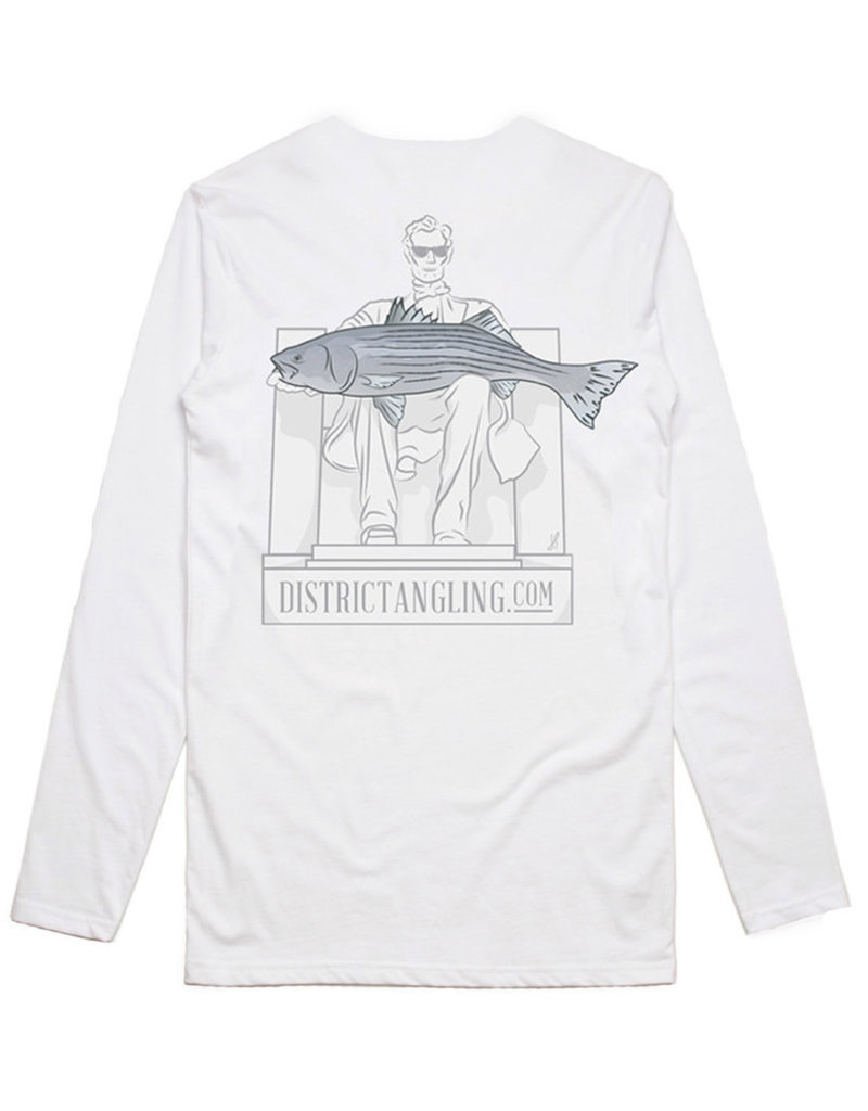 District Angling Honest Abe Long Sleeve Tech Tee