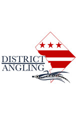 District Angling District Angling Mini Logo Sticker