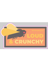 District Angling Loud And Crunchy Sticker