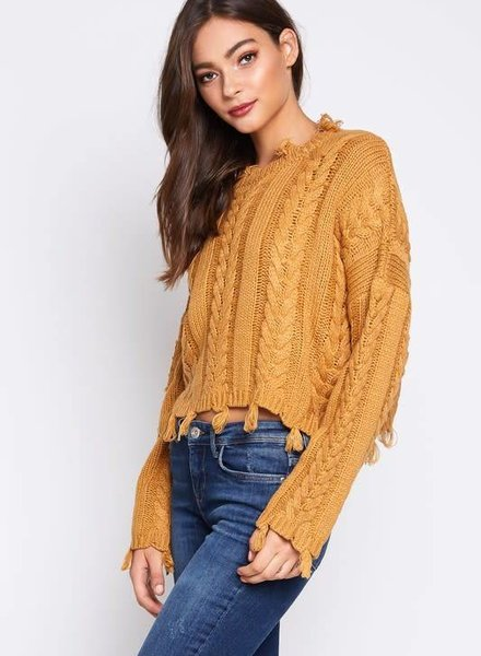 Blue Blush dana sweater