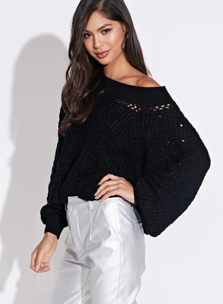 Blue Blush busy sweater