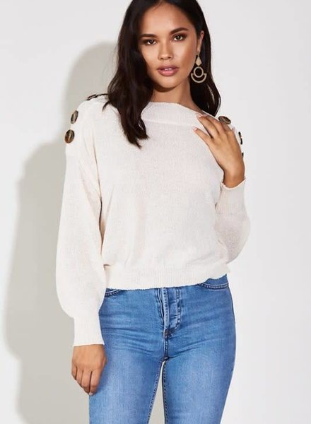 Blue Blush blair sweater
