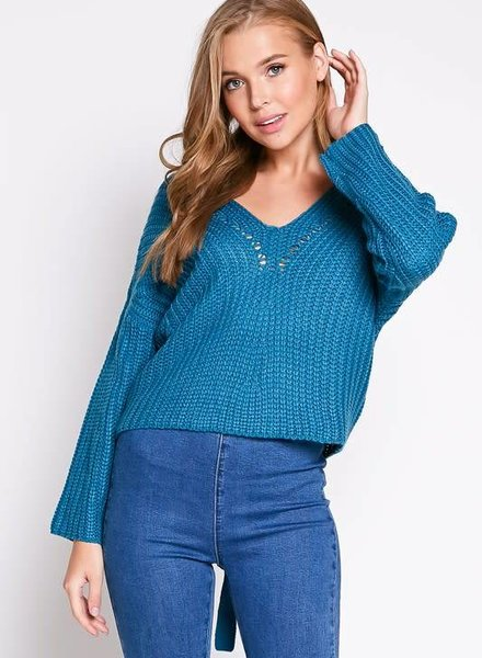 Blue Blush eve sweater