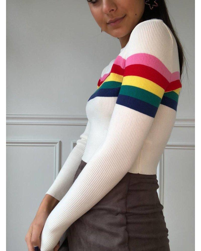 noble u rainbow sweater
