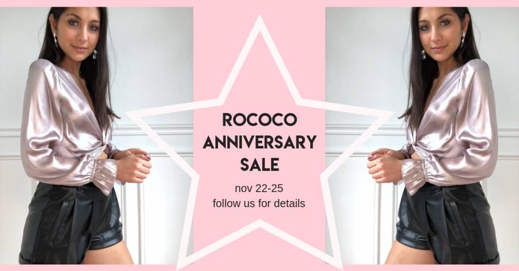 Rococo Anniversary Sale