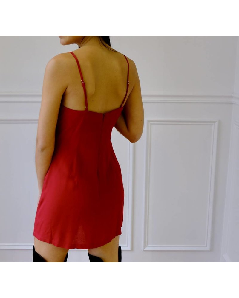 cotton candy ruby dress