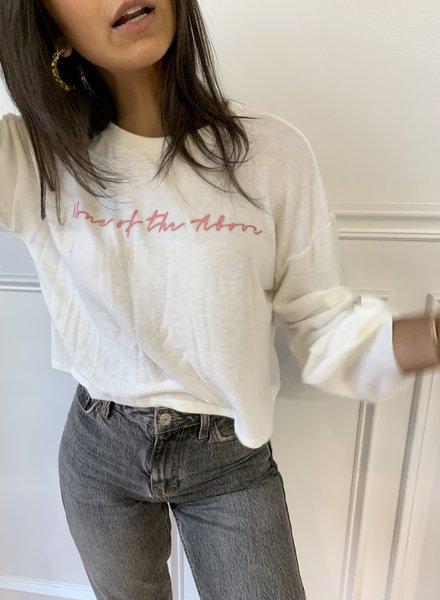 "Le Lis ""none of the above"" fleece t-shirt"
