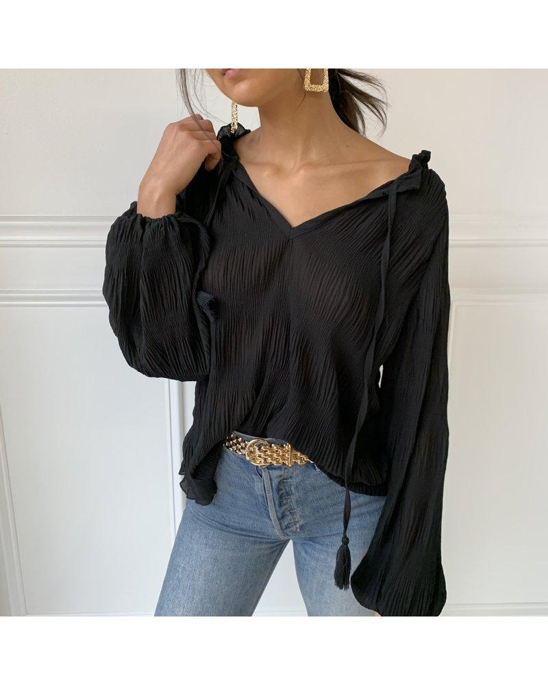glam norah crinkle blouse