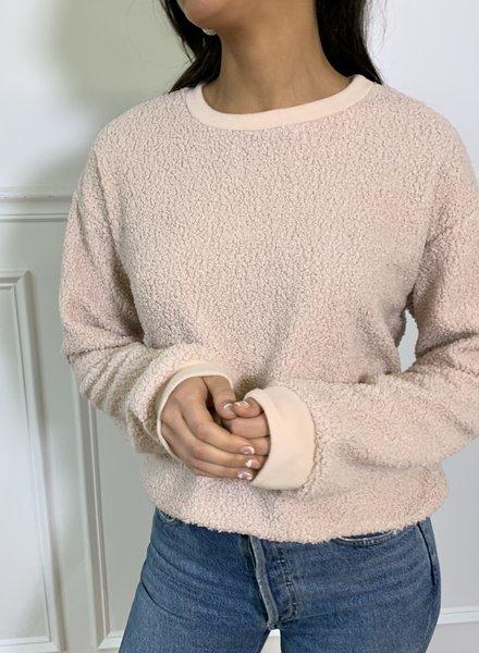 Le Lis lucia sherpa sweatshirt