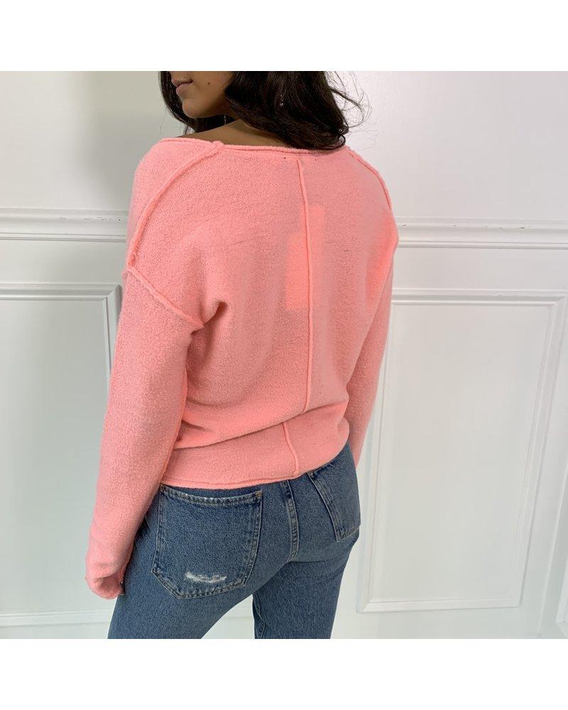cotton candy rachel sweater top