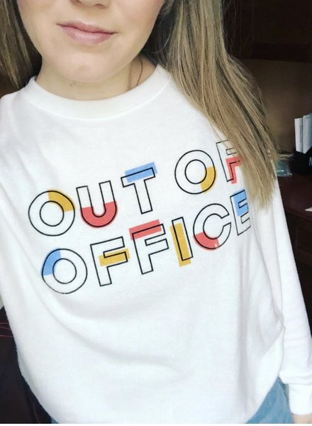 Le Lis out of office fleece sweatshirt