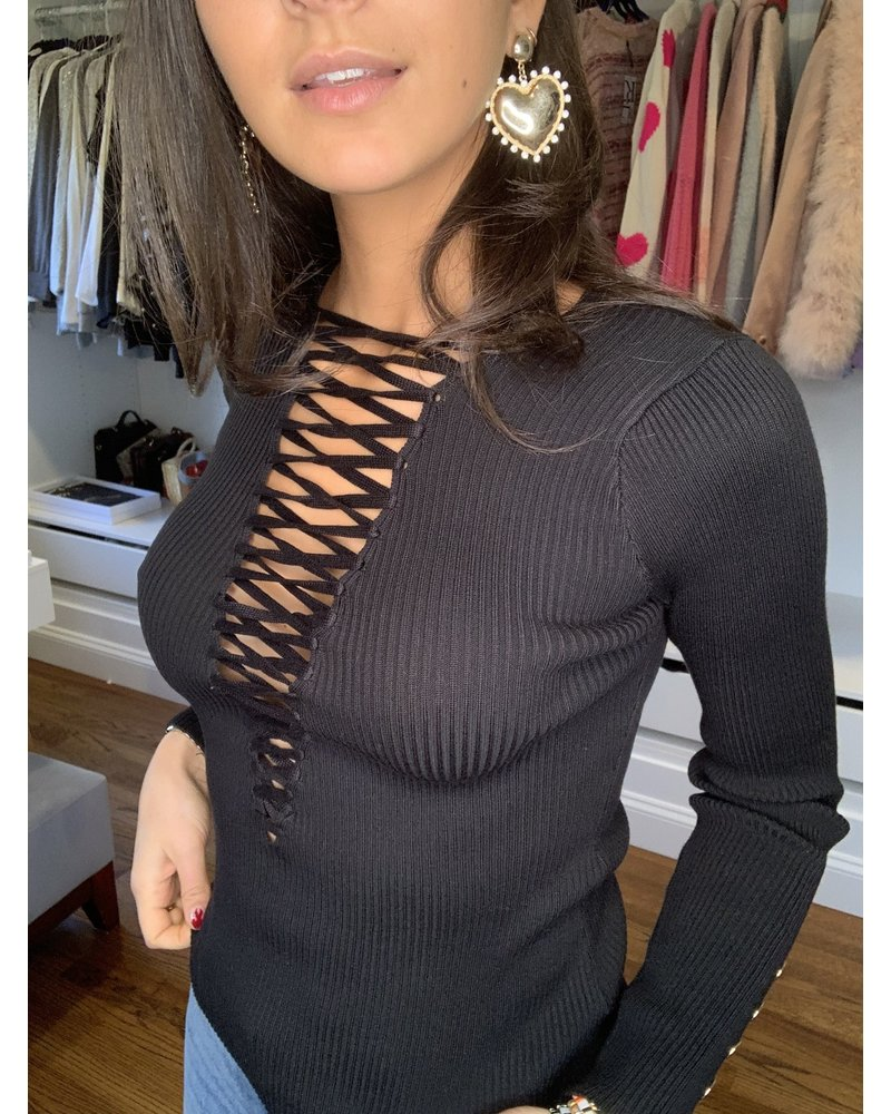 immodel hallie ribbed top