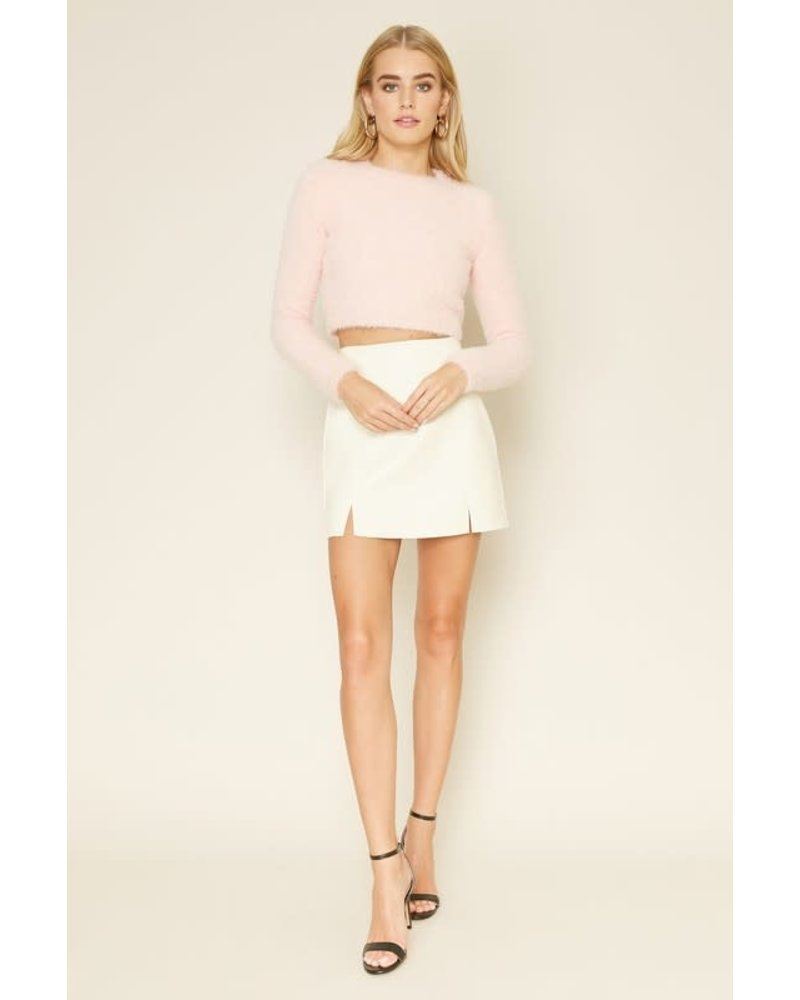 dee elly bunny faux leather mini skirt