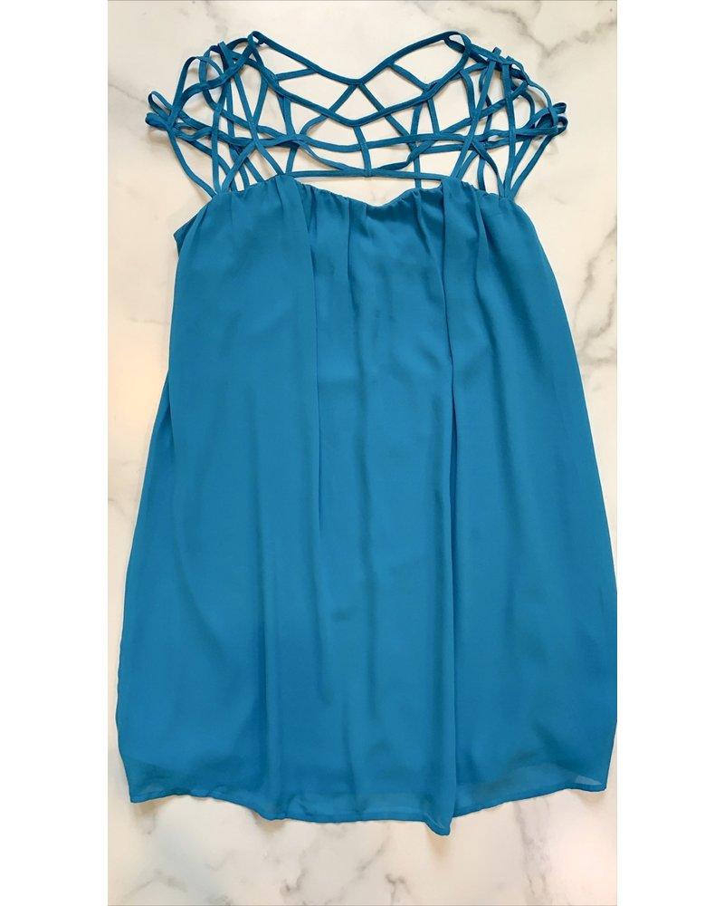 cyan dress