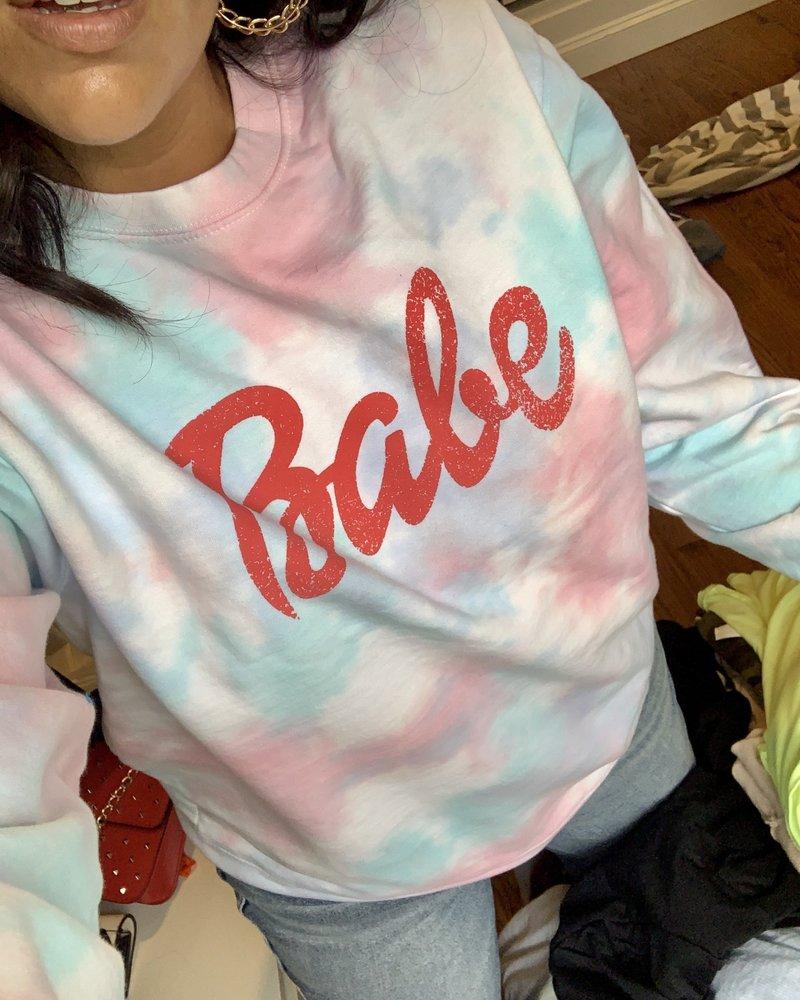 blume + co babe sweatshirt