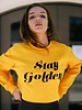 blume + co stay golden sweatshirt