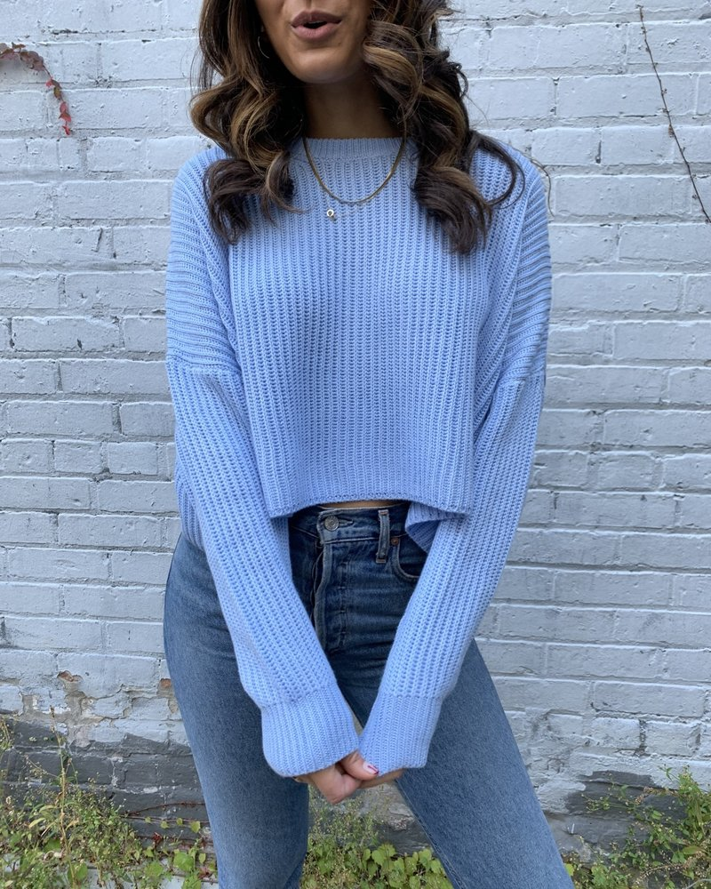 cotton candy river sweater