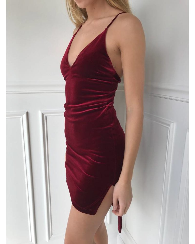 Sole Mio S7D2624H37 strappy velvet dress
