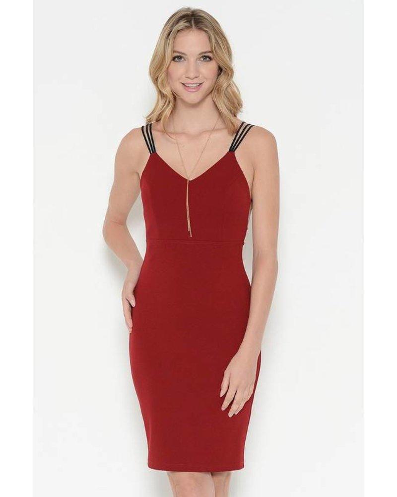 Sole Mio s6d2379k54 strappy satin midi dress