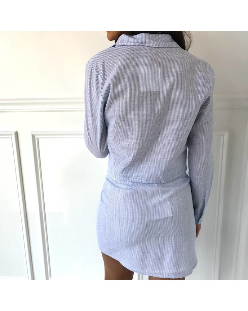 Honey Punch 7is2873h high waisted button down skirt