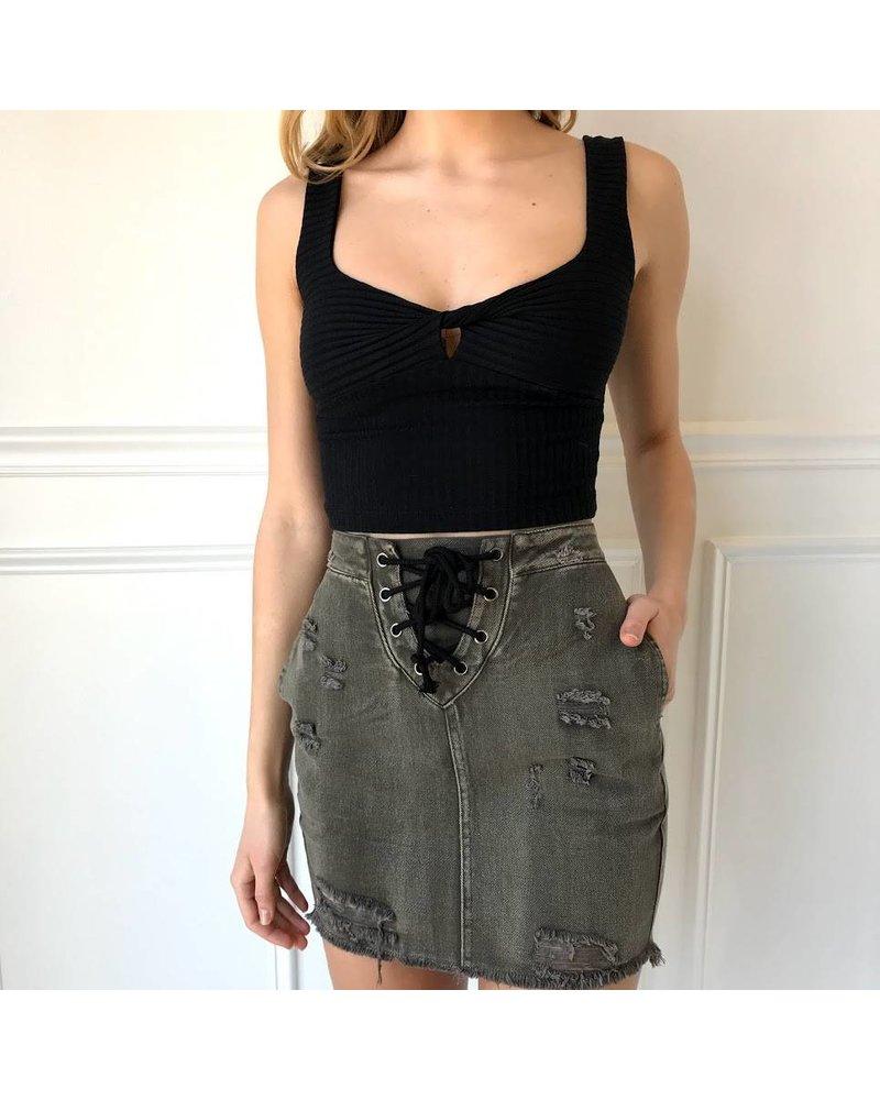 hayden h5519 high waisted denim skirt