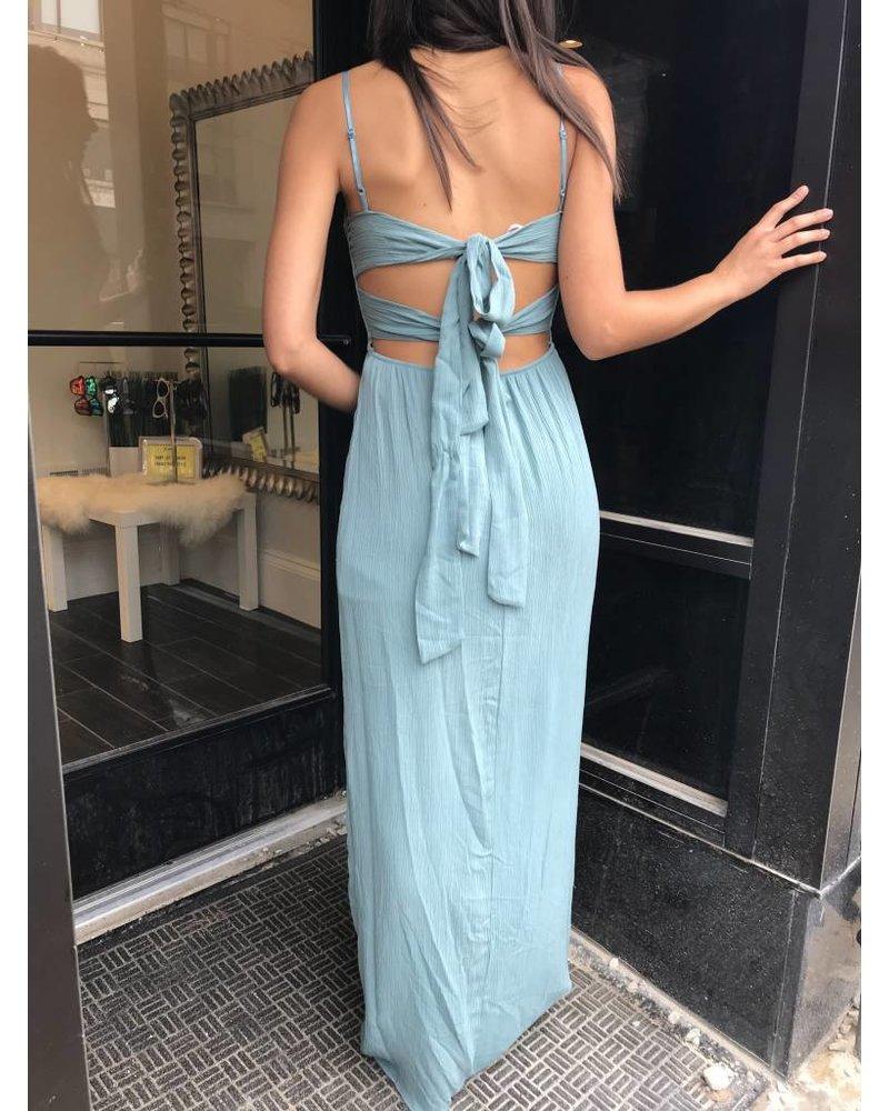 Sage d2780 tie back maxi dress