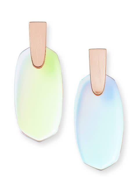 Kendra Scott Aragon Earring Dichroic Glass Gold
