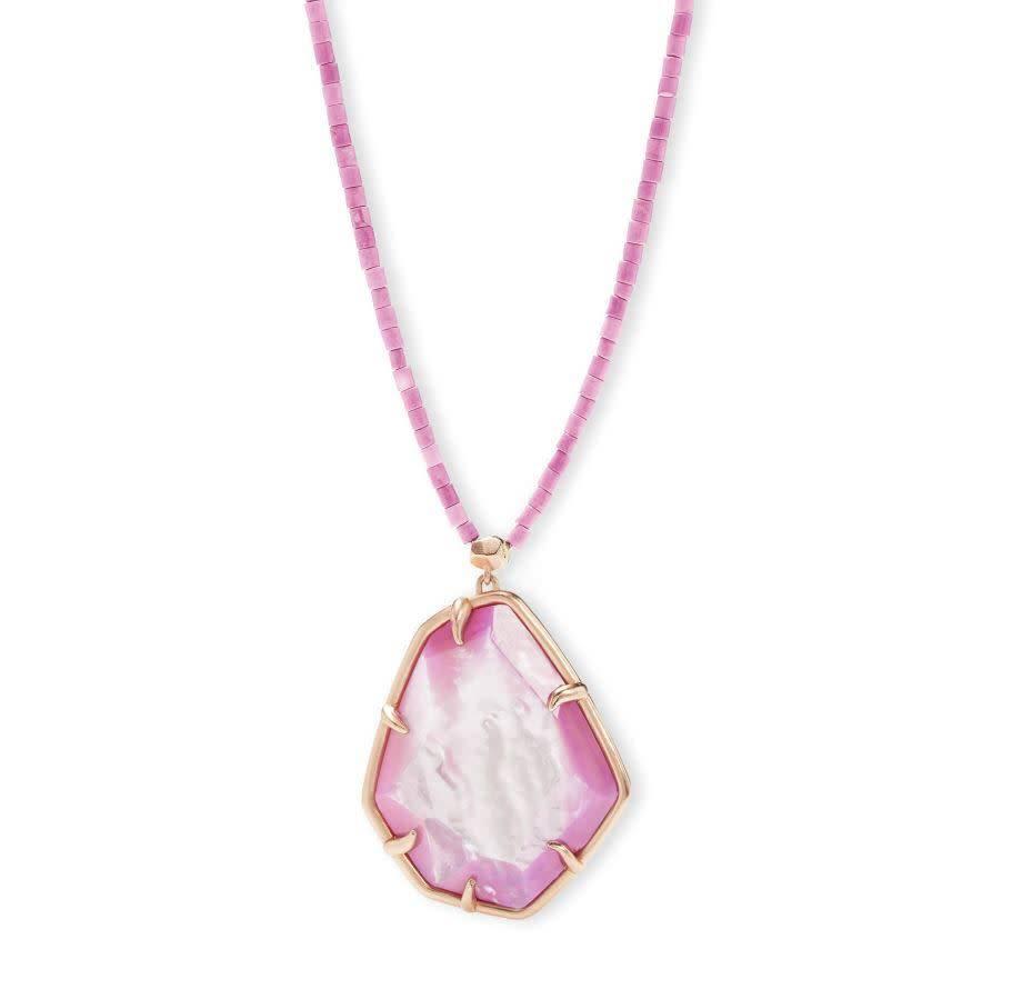 Kendra Scott Beatrix Necklace Rsg Lilac MOP