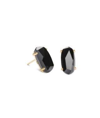 Kendra Scott Betty Earring Black Opaque Glass Gold