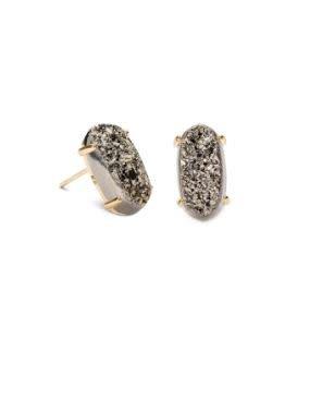 Kendra Scott Betty Earring Platinum Drusy Gold